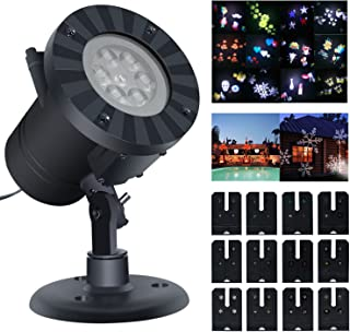 Projection Lights,SuBleer Party Projector Light,Decorative Lighting Projectors,Colorized Auto Moving Halloween LED String lights With 12 Lighting Modes,4 LED,Waterproof (Black)