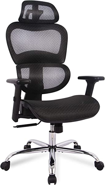 Office Chair Ergonomics Mesh Chair Computer Chair Desk Chair High Back Chair W Adjustable Headrest And Armrest