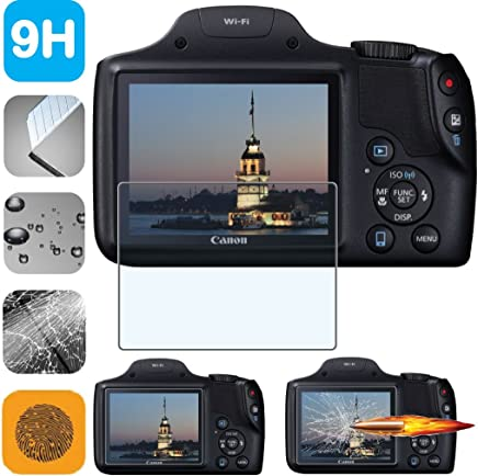 residue-free removal 6 Protective Films very simple assembly 100/% accurately fitting 6x MEXXPROTECT Ultra-Clear Screen Protector for Canon PowerShot SX540 HS