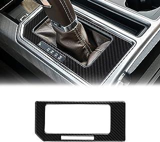 LANZMYAN Compatible with Gear Shift Box Panel Sticker Carbon Fiber Gear Shift Box Trim Cover Interior Accessories for Ford F150 2015 2016 2017 2018 2019 2020 Black