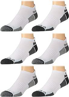 'Reebok Mens' Breathable No-Show Low Cut Basic Cushion Socks (6 Pack) (White-Grey 2, Shoe Size: 6-12.5)'