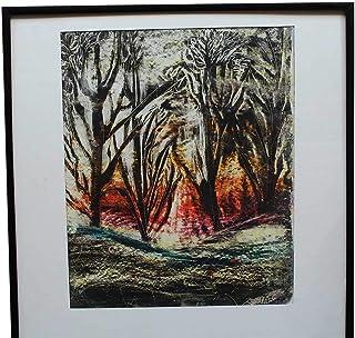 Artastate - PAISAJE - Pintura, Pintada a Mano, Pasteles al óleo, Arte Original, Cuadros pintados, Paspartú, 100% Pintado a Mano, Decoración Único