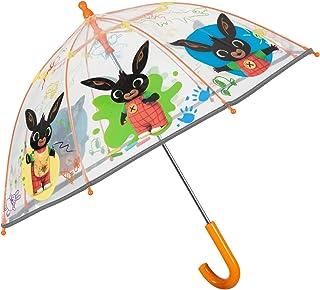 Ombrello Bing Trasparente a Cupola Catarifrangente - Ombrello Lungo Disegni Colorati per Bambini 3/5 Anni Scuola Materna A...