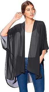 Solid Sheer Chiffon Kimono Cardigan