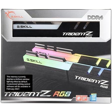 G.Skill Trident Z RGB Series 16GB (2 x 8GB) 288-Pin SDRAM (PC4-25600) DDR4 3200 CL14-14-14-34 1.35V Dual Channel Desktop Memory Model F4-3200C14D-16GTZR
