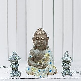 Anner Lily Sitting Buddha Statue Home Decoration, Garden Figurines Bonsai Decorations, Mini Zen Garden Accessories Outdoor...