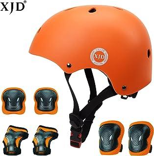 کودکان و نوجوانان XJD کلاه ایمنی 3-8 سال کودک کلاه ایمنی کودک نو پا محافظ ورزشی ، محافظ دنده زانو ، زانو ، مچ دست ، غلتک دوچرخه ، BMX دوچرخه ، اسکیت بازی کلاه های قابل تنظیم برای کودکان
