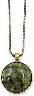 Connemara Irish Marble: Long Round Pendant Necklace