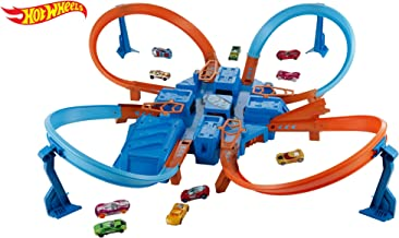 Hot Wheels- Cross Crash trackset, (Mattel DTN42)