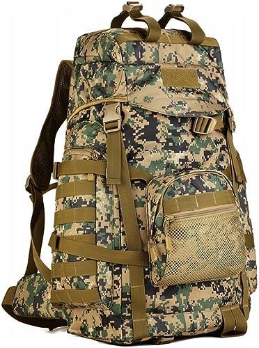 Hung Kai 60l Grande Capacité 5 Couleurs Camouflage étanche Antichoc Hommes Et Femmes Armée Fan Alpinisme Sac Tactique Sac à Dos Plein Air Sac à Dos Grand Sac De Voyage