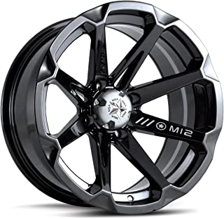 MotoSport Alloys M12 Diesel Gloss Black ATV Wheel UTV Wheel (14x7