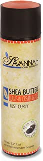 Savannah Hair Therapy Leave In Cream - Just Curly Collection Treatment - Leave In Glaze Shea Butter, Cotton and Silk Protein and Vitamin B6 - For Curly Hair. Sodium Chloride and Sulfate Free. 8.45 oz