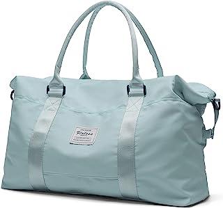 Travel Duffel Bag, Sports Tote Gym Bag, Shoulder Weekender Overnight Bag for Women,Light Blue