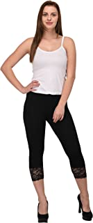 Espresso Women's Lace Capris - Pack of 2
