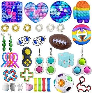 Cacowap Fidget Toys Pack Pas Cher, 37 Pièces Sensoriels Bon Marché Gadgets Fidget Toys Anti-stres, pour Les Enfants Adulte...