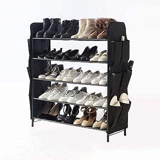 UDEAR Range-Chaussures Organisateur de Chaussures autoportant, Meuble de Rangement Polyvalent,5 Niveaux avec 12 Poches la...