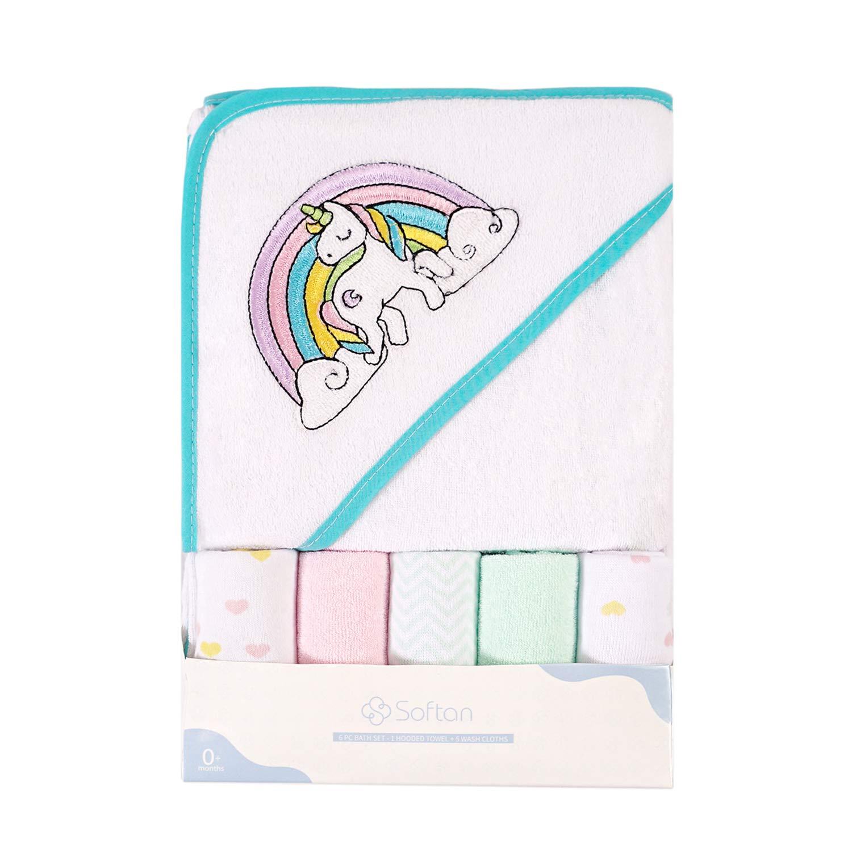 Softan Baby Hooded Bath Towel Ult and Soft Same day shipping Long-awaited Extra Washcloths