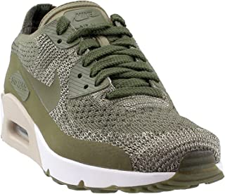 Mens Air Max 90 Ultra 2.0 Flyknit Low Top Lace Up Running, Green, Size 10.5