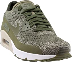 Nike Mens Air Max 90 Ultra 2.0 Flyknit Low Top Lace Up Running, Green, Size 10.5