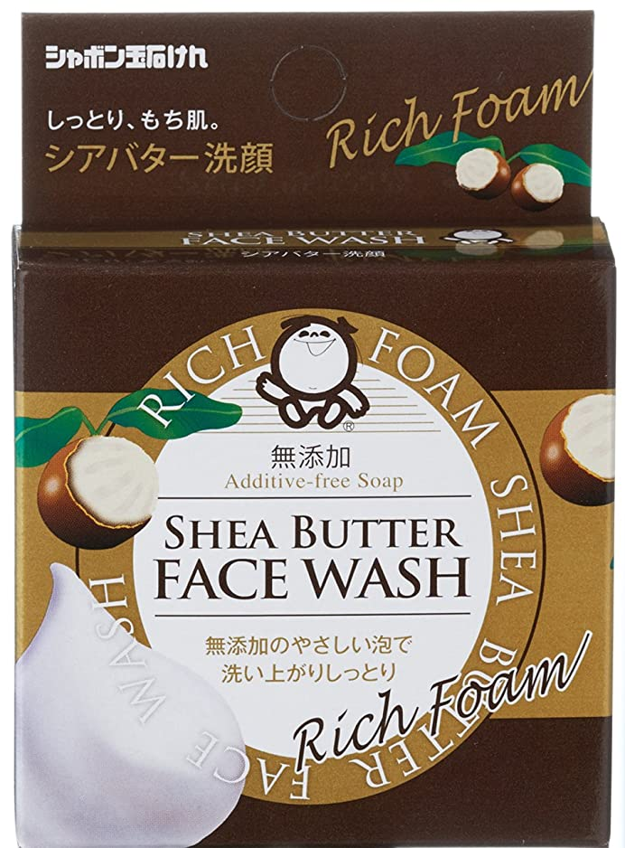 省略する伝導基本的なシャボン玉 シアバター洗顔 60g