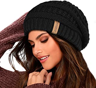 Knit Beanie Hats for Women Men Fleece Lined Ski Skull Cap...