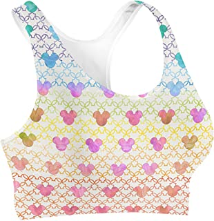 Rainbow Rules Mouse Ears Watercolor Sports Bra