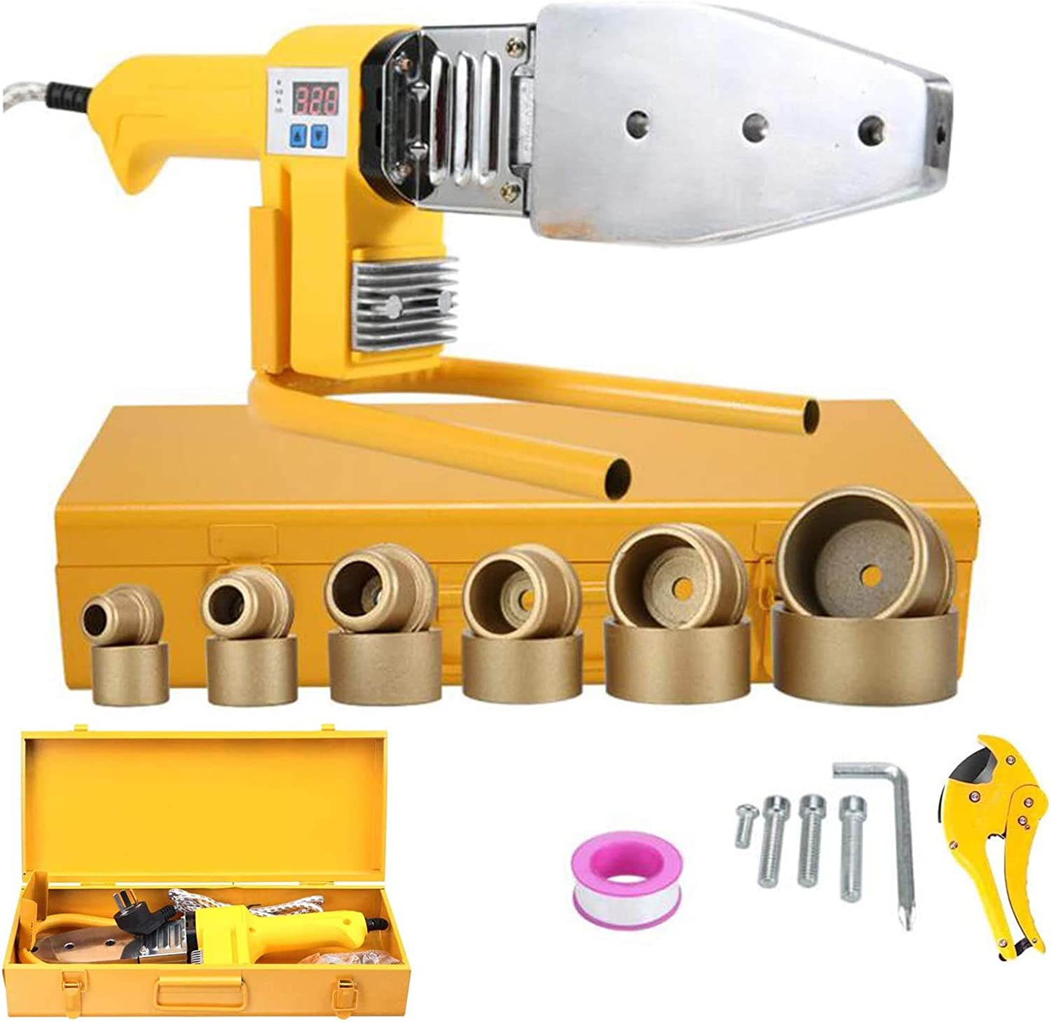 Fusion Max 59% High material OFF Welder Tool Kit PPR 220V Pipe Digital 800W