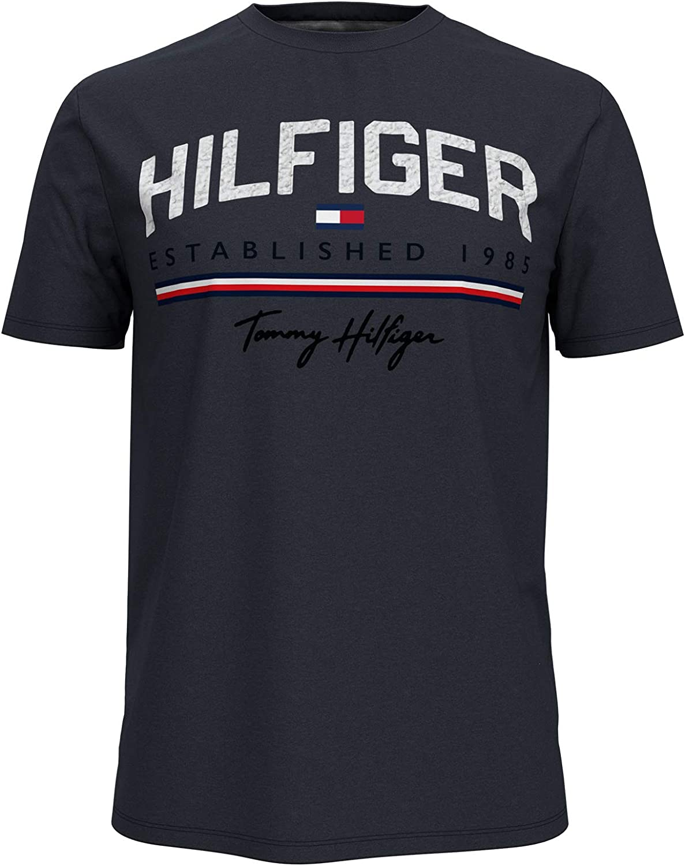 Tommy Hilfiger Men's Short Regular dealer Shirt Graphic Brand Cheap Sale Venue Sleeve T
