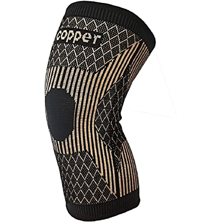 Black, XL Workout,Relieve Arthritis and Knee Pain Copper Knee Compression Sleeves Single Copper Knee Brace Sleeves for Sports,Running,Basketball,Gym