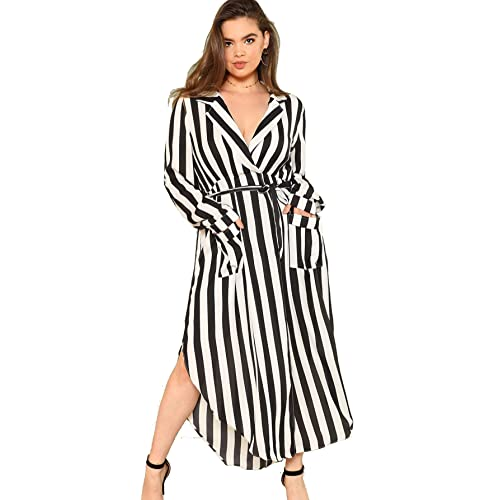 Milumia Plus Size Party Dress Flounce Flared Long Sleeves Maxi Dress  Evening Night Out Dress 5f1e9d353