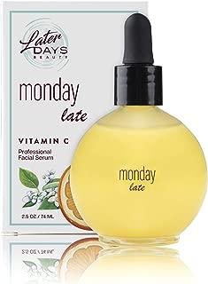 Later Days Vitamin C Anti-Aging Facial Serum | With Vitamin A, CoEnzyme Q10, and 0.5% Retinol, 2.5 fl oz | Vegan & Cruelty-Free
