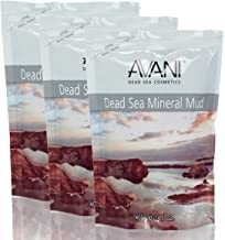 AVANI Classics Dead Sea Mineral Mud | Rich in Magnesium, Potassium, Calcium & Bromide | Actively Cleanses & Purifies Skin Allowing it to Better Absorb Moisture - 14.1 oz (3-pack)