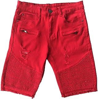 Kool Classic Mens Skinny Ripped Destroyed Distressed Jeans Denim Shorts 6823c77b65e