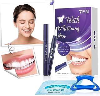 Y.F.M Lápiz Blanqueador de Dientes 2 pcs, Kit de Blanqueador Dental, Blanqueamiento Dental - 2 x Lápiz, 15 x Limpiador, 1 x Abridor - Efectivo, Sin Dolor, Sin Sensibilidad, Amigable para Viajes
