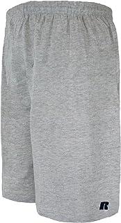 سروال قصير رجالي من Russell Athletic RS610B كبير وطويل من القطن جيرسي سهل الارتداء
