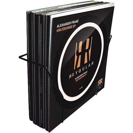 Reloop Glorious Vinyl Set Holder smart - peut contenir jusqu'à 25 vinyls, surtout en construction légère, montage facile