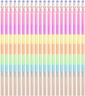 SoundsBeauty 20 Pcs Gel Pen Refills Multicolor Rainbow Highlighters 0.5mm Nib Colorful Smooth Writing Painting School Supp...