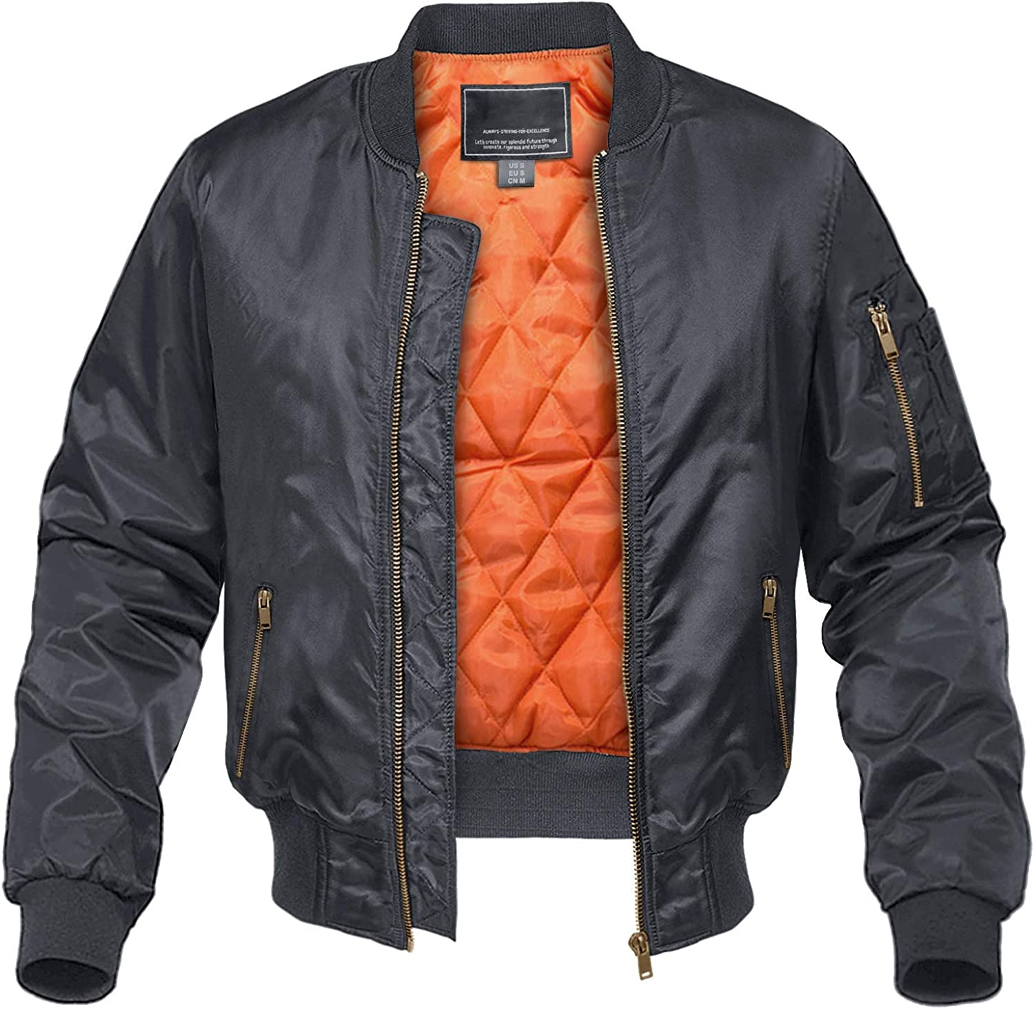 CRYSULLY Max 86% OFF Men's Jacket-Fall Winter Ja Windbreakers Bomber Outstanding Thicken