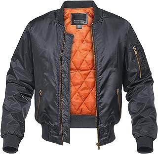 Men's Jacket-Fall Winter Thicken Windbreakers Bomber Jackets Padded Coats