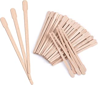 Mibly Wooden Wax Sticks 200 Pack - Eyebrow, Lip, Nose Small Waxing Applicator Sticks for Hair Removal and Smooth Skin - Sp...