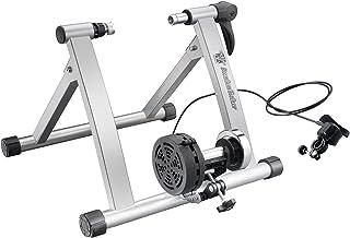 Bike Lane 2016 Bike Lane Premium Trainer Bicycle Indoor Trainer Exercise & Ride All Year, Silver, Default