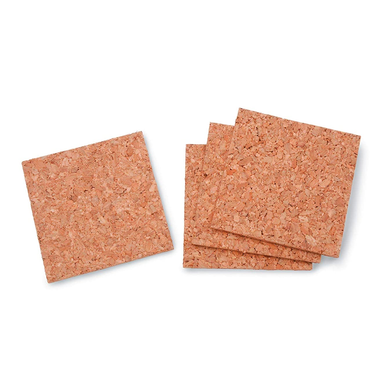 Bulk Buy: Darice DIY Crafts Cork Tile Square 5mm Thick 4 x 4 inches 4 pieces (6-Pack) 1098-81