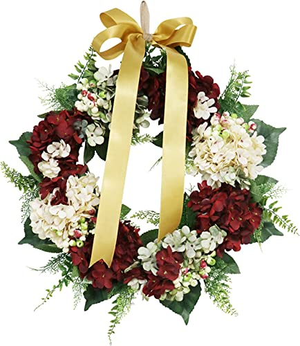 discount 14In new arrival Artificial Flowers discount Wreath Hydrangea Peony Flowers Wreath for Wedding Decoration Home Decor Spring Earth Wreath Door Decoration for Wedding, Home Décor, Christmas Party online sale