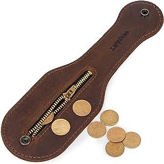 EASYANT Mini Leather Coin Purse Outdoor Men EDC Self-Defense Multi-Tool - Brown - One Size