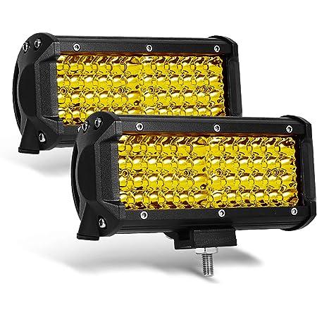 Willpower 2PCS 5 Inch 72W Led Light Bar Flood Beam 12V Led Pods Off Road Work Driving Fog Lights Lamp for Truck Boat Tractor 4x4 ATV UTV SUV