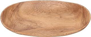 不二貿易 トレー オーバル 幅22cm ブラウン アカシア 天然木 割れにくい 軽量 食器 40702