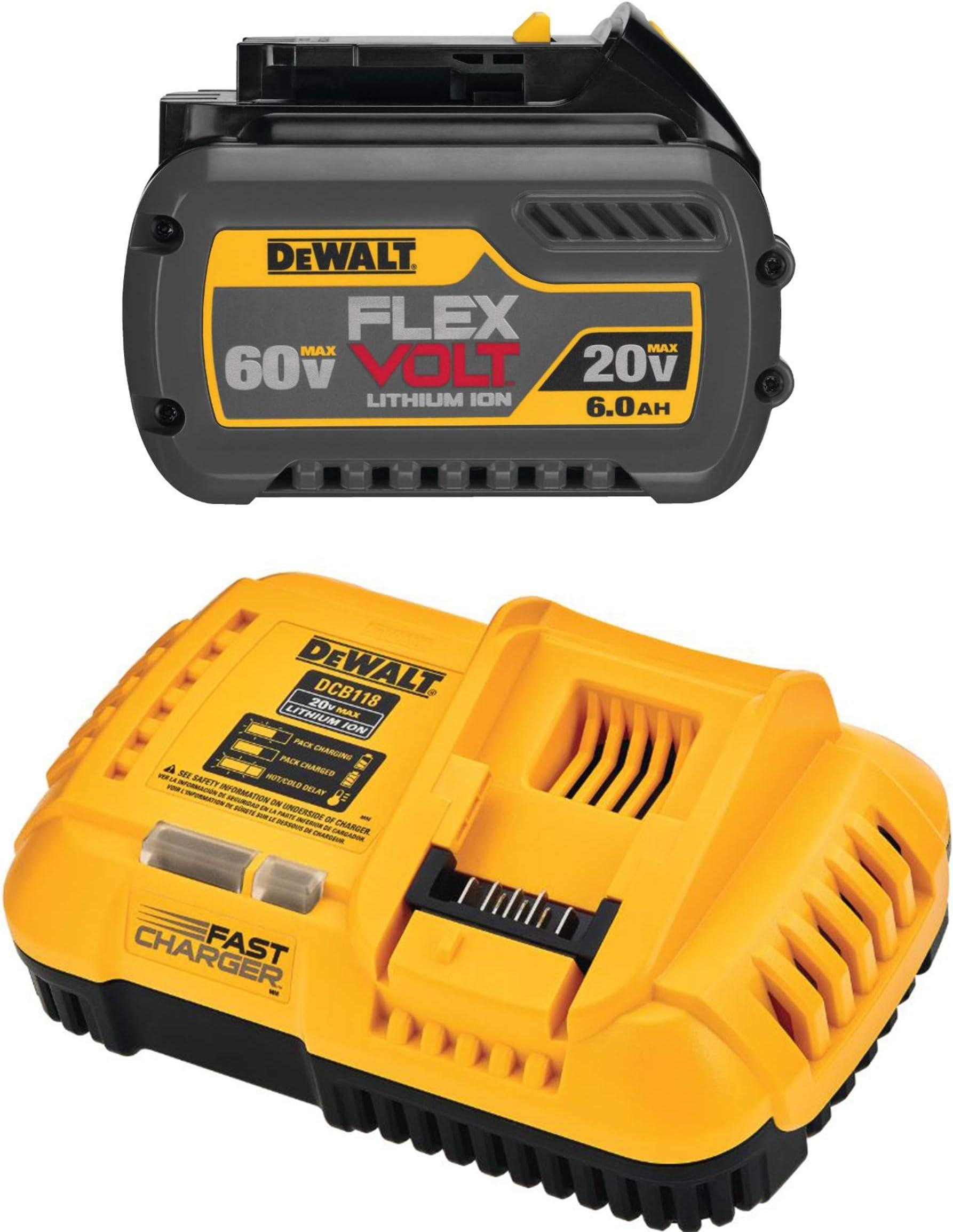Dewalt Dcb606 And Dcb118 Battery And Rapid Charger Bundle Amazon Com