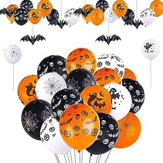 Ballons d'Halloween, Ballons de Décoration d'Halloween, Ballons d'Halloween Latex, Ballons Colorés, Halloween Party Decora...