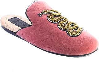 e6b58119bd45 Gucci Women s Lawrence Princetown Mule Velvet Snake Sandal Shoes Pink