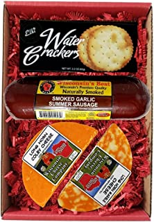 Wisconsin Deluxe Colby Longhorn Cheese, Sausage & Cracker Gift